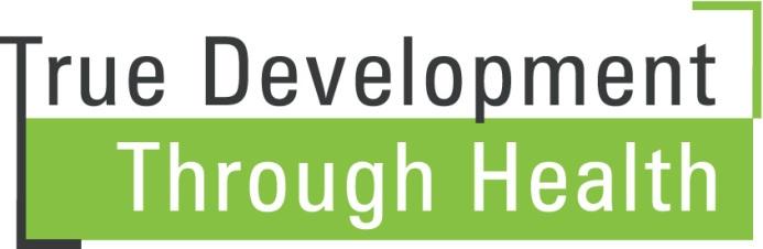 Non c'è sviluppo senza salute (TDTH) – True development Through Health