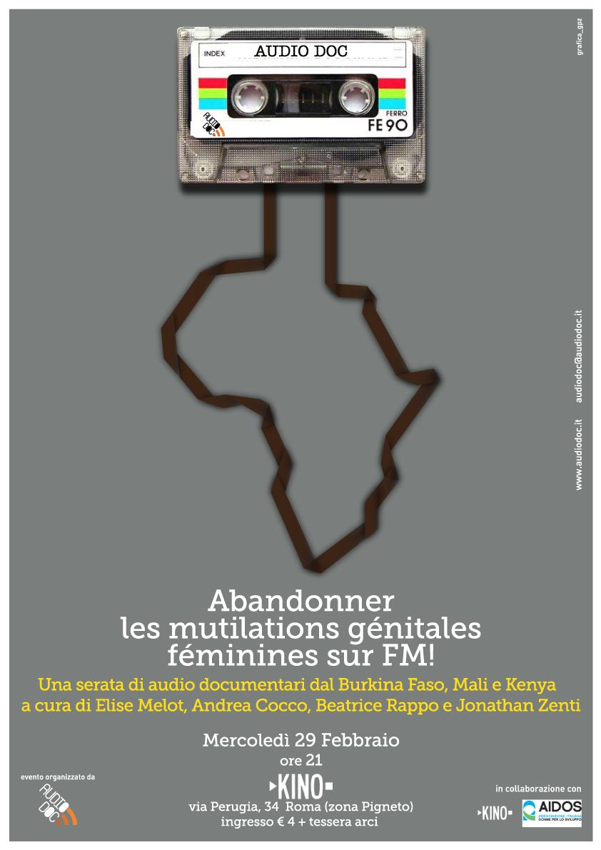 Abbandonare le MGF su FM! Una serata di audiodocumentari da Burkina Faso, Mali e Kenya