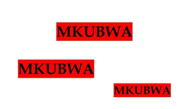 5 stelline per MKUBWA!