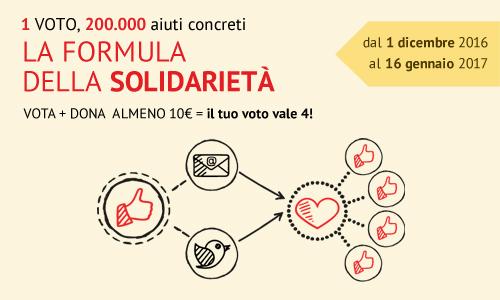 Un voto, 200.000 aiuti concreti