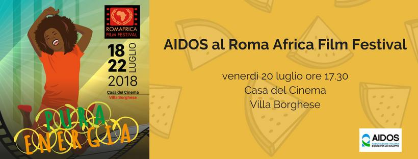 Aidos al RomAfrica Film Fest – Venerdì 20 luglio ore 17.30